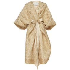 Sandra Mansour     Rayon du Soleil Couchant Brocade Jacket ($1,675) ❤ liked on Polyvore featuring outerwear, jackets, sandra mansour, coats, dresses, gold, brown jacket and brocade jackets
