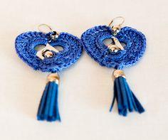 Lavander blue fringe earrings / Pop tab crocheted by SABRINASHANDS, €15.00