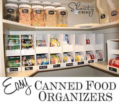 Easy DIY Canned Food Organizers from shanty-2-chic.com // Cheap Ideas to #organize the pantry!
