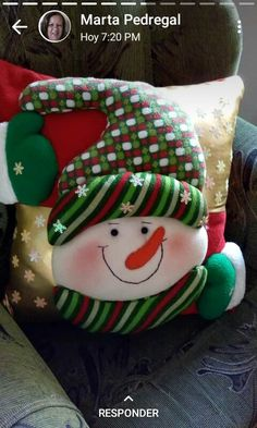 Christmas Stocking Kits, Felt Christmas Stockings, Felt Christmas Ornaments, Christmas Snowman, Christmas Crafts, Christmas Decorations, Holiday Decor, Christmas Ideas, Christmas Cushion Covers