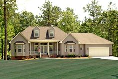 Country Farmhouse Southern Traditional House Plan 79518