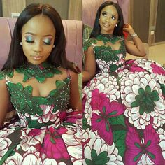 The trendy Asoebi fashion styles at the moment. Latest African Fashion Dresses, African Dresses For Women, African Print Dresses, African Print Fashion, African Attire, African Wear, African Women, Ankara Long Gown Styles, African Wedding Dress