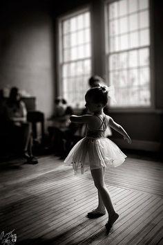 Black & White Ballerina by Klaudia