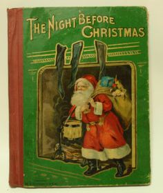 The Night Before Christmas Early 20th Century MA Donohue Co Chicago Litho Cover | eBay