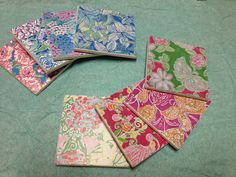 Lilly Pulitzer coasters I made for my sisters!! #lilly #lillypulitzer #sorority