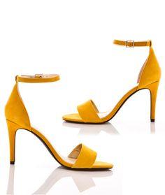 Chaussures femme ouvertes à talons hauts Jaune