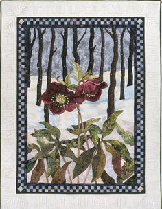 This quilt entitled, Unexpected Beauty by Sandra Leichner, now in the National Quilt Museum in Paducah, Kentucky, is one of my all time favorites. For Mom Hand Applique, Applique Quilts, Applique Ideas, Wool Applique, Applique Patterns, Landscape Art Quilts, Flower Quilts, Miniature Quilts, Small Quilts