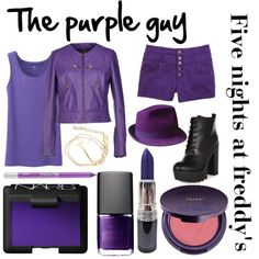 """""""Five night's at Freddy's inspired outfits #5 The purple guy/Vincent"""" by tortured-puppet on Polyvore:"""