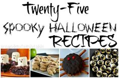 These 25 Spooky Halloween Recipes are perfect for all your Halloween parties!