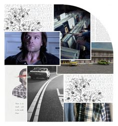 """""""// There is so much evil in the world //"""" by alyssaclair-winchester ❤ liked on Polyvore featuring art, supernatural and samwinchester"""
