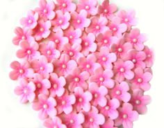 Pink on Pink GUM PASTE BLOSSOMS / 30 Flowers  / by lenabender48, $11.99