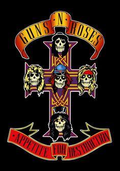 "Guns & Roses ""Appetite For Destructiom"" Album Cover Stand-Up Display."