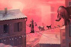 Stunning Illustrations by Cyril Rolando http://www.cruzine.com/2013/02/06/stunning-illustrations-cyril-rolando/