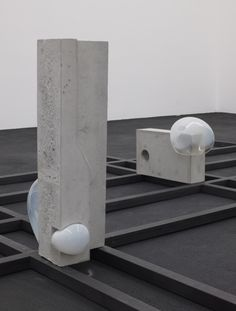 Morgane Tschiember, Bubbles, Glass, concrete and steel, 2012