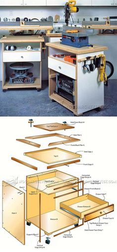 Multifunction Power Tool Cabinet Plans - Workshop Solutions Plans, Tips and Tricks | WoodArchivist.com