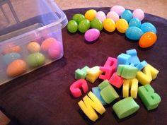 Marissa's Mommy Moments: Alphabet Easter Egg Hunt