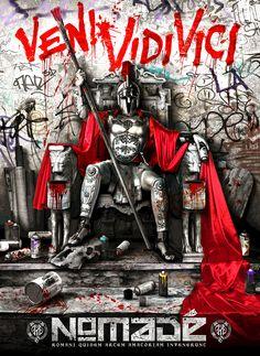 Street Art collective Nomade - Graffiti Centurion ~ NQ