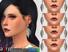 by a3ru - Silver Leaf earrings for YAF.