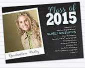DIY & Custom Invitations Looking for Great Graduation Announcements? Get these adorable DIY Chalkboard Style Class of 2015 Graduation Announcement or Party Invitation - Instant Download Microsoft Word Template from Spilled Glitter! #SpilledGlitterSTL #ClassOf2015 #Graduate