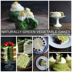 Naturally Green Cakes for St Patrick's Day | Veggie Desserts Blog From Kale and Apple Cake and Cucumber Mint Cupcakes, to Spinach and Coconut Yogurt Cake to Pea and Vanilla Cake with Lemon Icing!