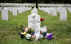 The grave of Army Captain Humayun Khan lies at Arlington Cemetery