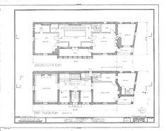 Plans of the James Charnley House, Chicago, Illinois (1891) - Dankmar Adler & Louis Sullivan