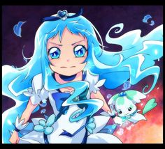 Tags: Anime, Wind, Cure Marine, Kurumi Erika, Coffret, Heartcatch Precure!, Mascot