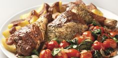 Warm up with that special someone and this delicious roasted chicken with red wine sauce