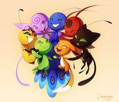 Kwami reunited~ (Miraculous Ladybug)