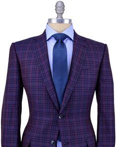 Ermenegildo Zegna purple plaid blazer