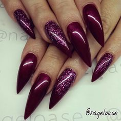 Image from http://www.nailartdesigns.info/wp-content/uploads/2015/02/burgundy-stiletto-nails-600x600.jpg.