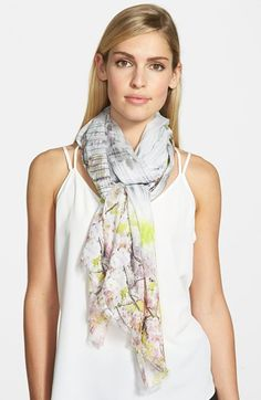 Ted Baker London 'Window Blossom' Long Scarf available at #Nordstrom