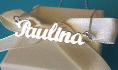 Verižica z imenom Paulina http://bromelia.si/zenski-nakit/ogrlice/ogrlice-z-imenom