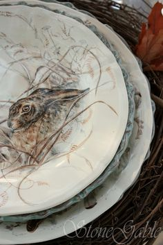Woodland Tablescape - hares