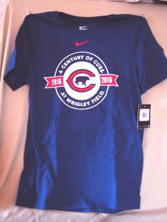 Chicago Cubs Majestic  Athletic A Century At Wrigley Field T-Shirt - Royal - MLB