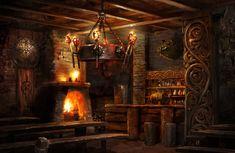 ArtStation Tavern Tomasz Ryger in 2020 Fantasy house Fantasy rooms Tavern