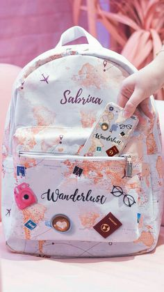 Discover recipes, home ideas, style inspiration and other ideas to try. Girly Backpacks, Cute Mini Backpacks, Stylish Backpacks, School Backpacks, Cute School Bags, Cute School Supplies, School Bags For Girls, Cute Luggage, Girls Bags