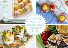 non-sandwich ideas for back to school lunch {Good Life Eats}