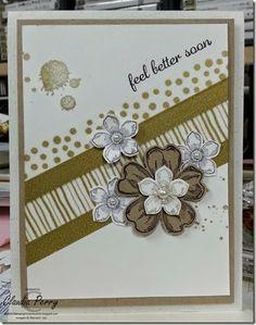 Stampin' Up!, Flower Shop, Petite Petals, Wahi Tape, Sketch