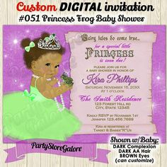This listing is for a DIGITAL invitation file customized/personalized with your party information/details. This invitation file will be