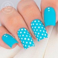 Lovely nail designs for summer 2017 ☆ see more: https Orange Nail Designs, Cool Nail Designs, Acrylic Nail Designs, Dot Nail Art, Polka Dot Nails, Orange Nails, Blue Nails, Fancy Nails, Trendy Nails