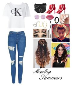 """""""Meet Marley Summers"""" by creative-with-fashion ❤ liked on Polyvore featuring Calvin Klein Jeans, Topshop, 3.1 Phillip Lim, Delicious, Matthew Williamson, Lana, Lime Crime, Ilia, Brinley Co and Berluti"""