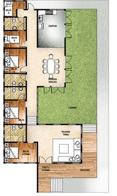 5 Bilik Tidur Rumah Hijau Floor Plan