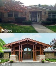 Home Renovation Exterior Exterior remodel bungalow 42 ideas for 2019 Home Exterior Makeover, Exterior Remodel, Exterior Design, Interior And Exterior, Colonial Exterior, Ranch Exterior, Bungalow Exterior, Interior Paint, Home Renovation