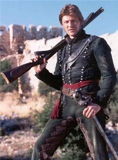 """Sean Bean in the TV adaptions of Bernard Cornwell's """"Richard Sharpe"""" series about a officer of the Rifle Brigade in the Napoleonic Wars. The Sharpe novels and films were part of the inspiration for """"El Carnicero"""". Rifles, Bernard Cornwell, Sean Bean, Napoleonic Wars, Period Dramas, Classic Tv, Dieselpunk, Military History, Movie Tv"""
