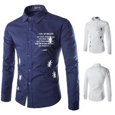 Mens Spider Printing Casual Shirt Long Sleeve Cotton Blends Turn Down Collar Letter Animal Leisure Regular Clothing Lfp12 111 From Liuzijing, $20.39 | Dhgate.Com