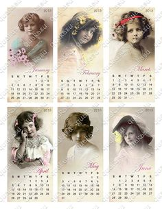 Digital Calendar 2015 Vintage Calendar Children by quakasu
