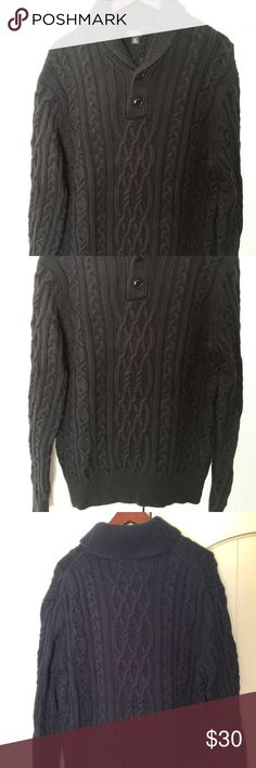 mens j crew navy shawl collar cable knit sweater this sweater is a wardrobe staple