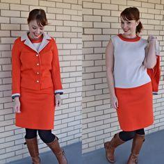 60s dress and jacket set 1960s drop waist by strangewaysvintage