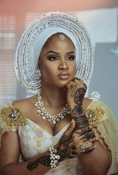 Traditional Wedding Looks African Wedding Attire, African Attire, African Wear, African Women, African Dress, African Fashion, Nigerian Bride, Nigerian Weddings, African Traditional Wedding